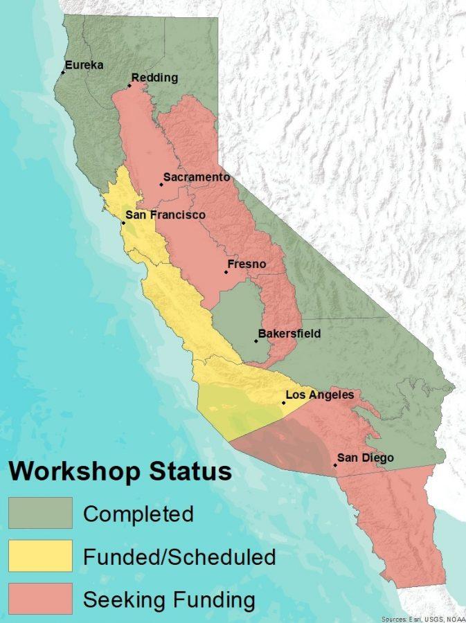 Important Plant Area (IPA) workshops status map