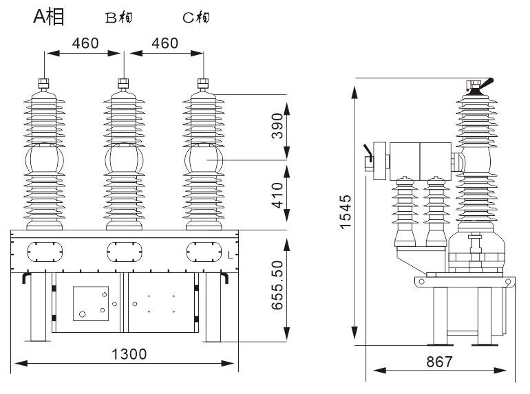 AV-3S-40.5 type outdoor high voltage vacuum circuit