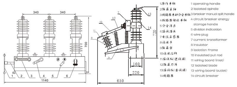 ZW32-12 series outdoor AC high voltage vacuum circuit