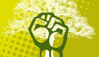 Ecosocialism fist