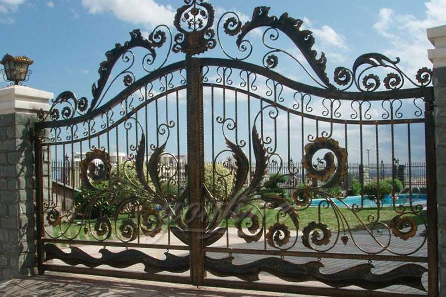Decorative Wrought Iron Gate Designs You Fine Sculpture