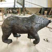 Outdoor antique animal statue life size bronze bear statue