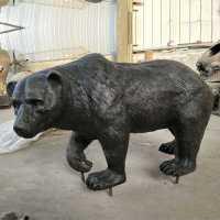 Outdoor antique animal statue life size bronze bear statue ...