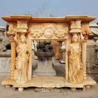 French Fireplace-Marble stone fireplace mantel,fireplace ...