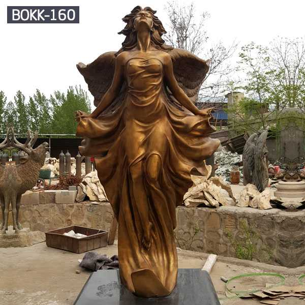 Large Bronze Outdoor Angel Statue Sculpture For Sale Bokk