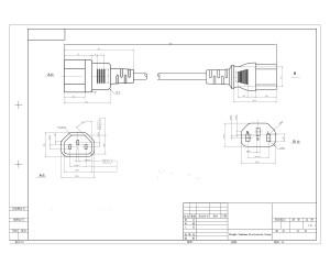 America UL power cordsST3 IEC 60320 C13 toSZ3 IEC 60320