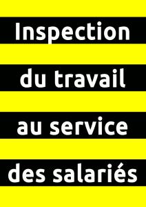 Affiche Inspection du travail au service des salariés