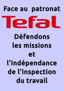 Affiche Téfal défendons les missions et l'indépendance de l'inspection du travail !