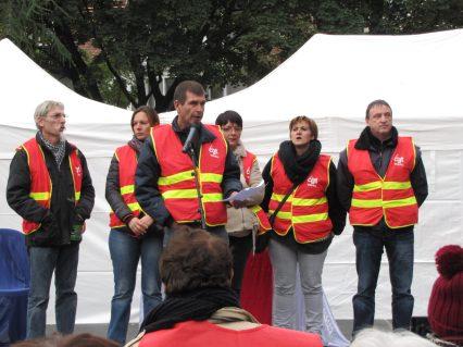 CGT TEFAL - Rassemblement du 16 octobre 2015 à Annecy en soutien à l'inspectrice du travail Laura Pfeiffer et au lanceur d'alerte