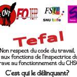 Téfal : Lettres au ministre du travail et à la Garde des Sceaux
