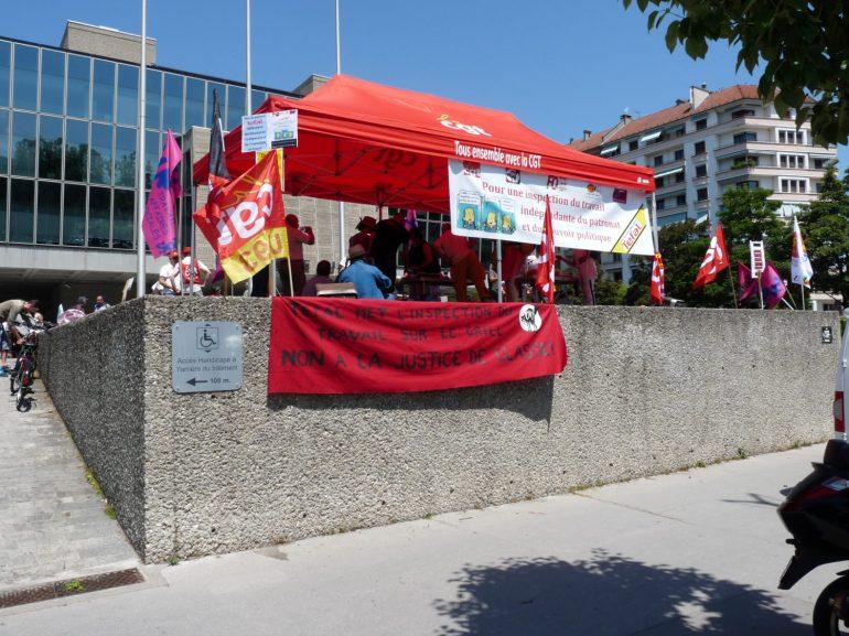 Banderole CNT travail et affaires sociales - Fédération travail emploi formation professionnelle