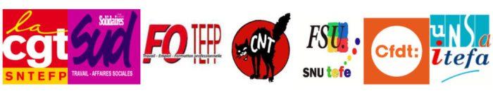 intersyndicale CNT CGT UNSA SUD FSU CFDT FO