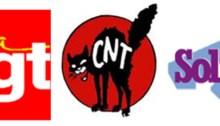 intersyndicale Alsace - suppression de postes - primes egalitaires - logo CNT