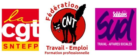 intersyndicale-CNT-CGT-SUD-balance-ton-porc-ministere du travail