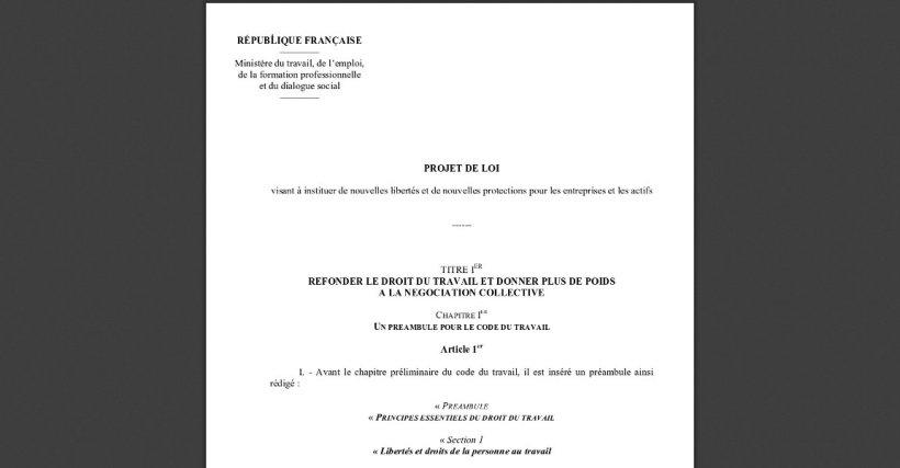 texte du projet de loi travail