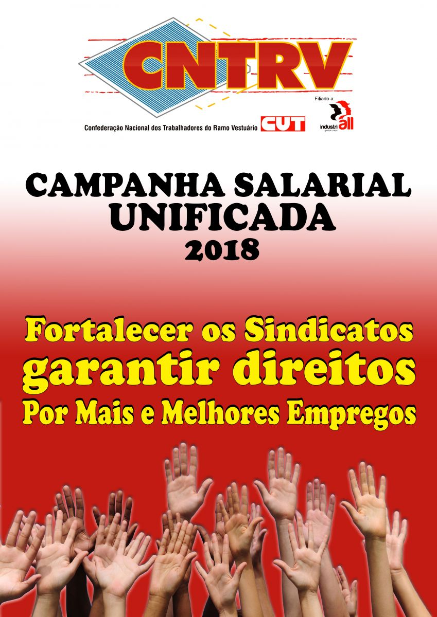 Cartaz da Campanha Salarial Unficada 2018