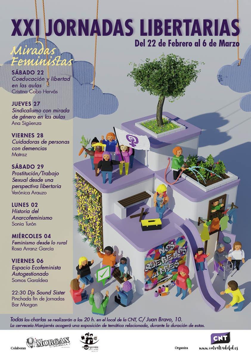«Miradas Feministas»: XXI Jornadas Libertarias de Valladolid