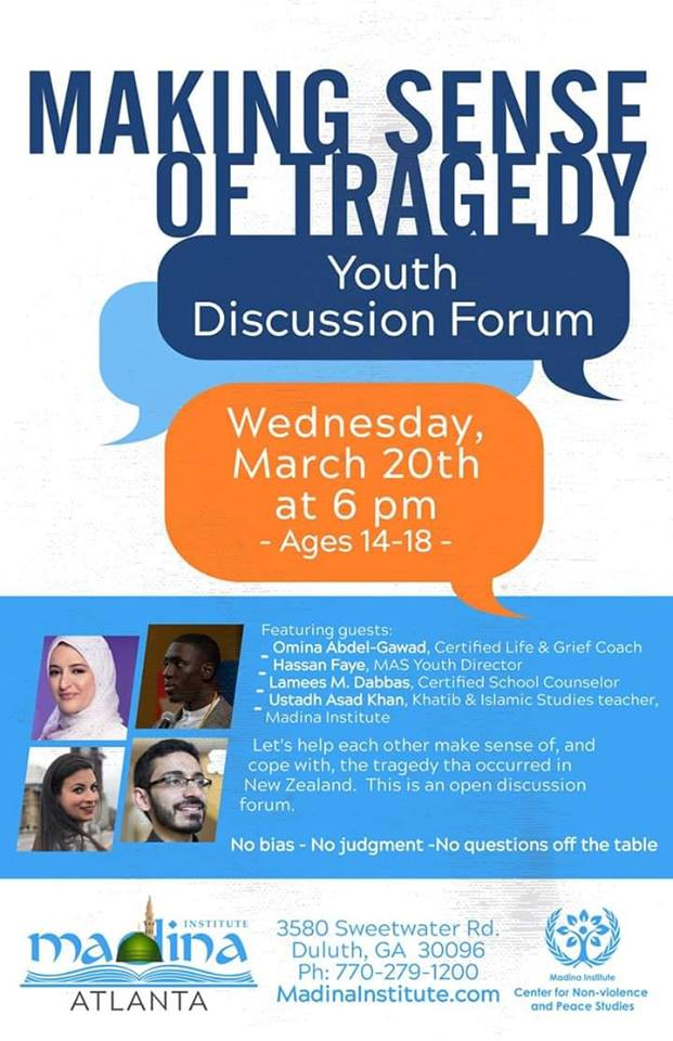 Making sense of the tragedy – Youth Discussion Forum