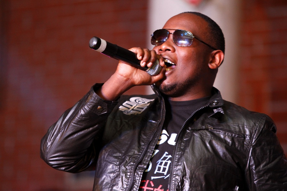 Gospel musician Rufftone perorms at the 2012 Mwafaka Awards at Charter Hall on 18th August 2012. DENNIS OKEYO