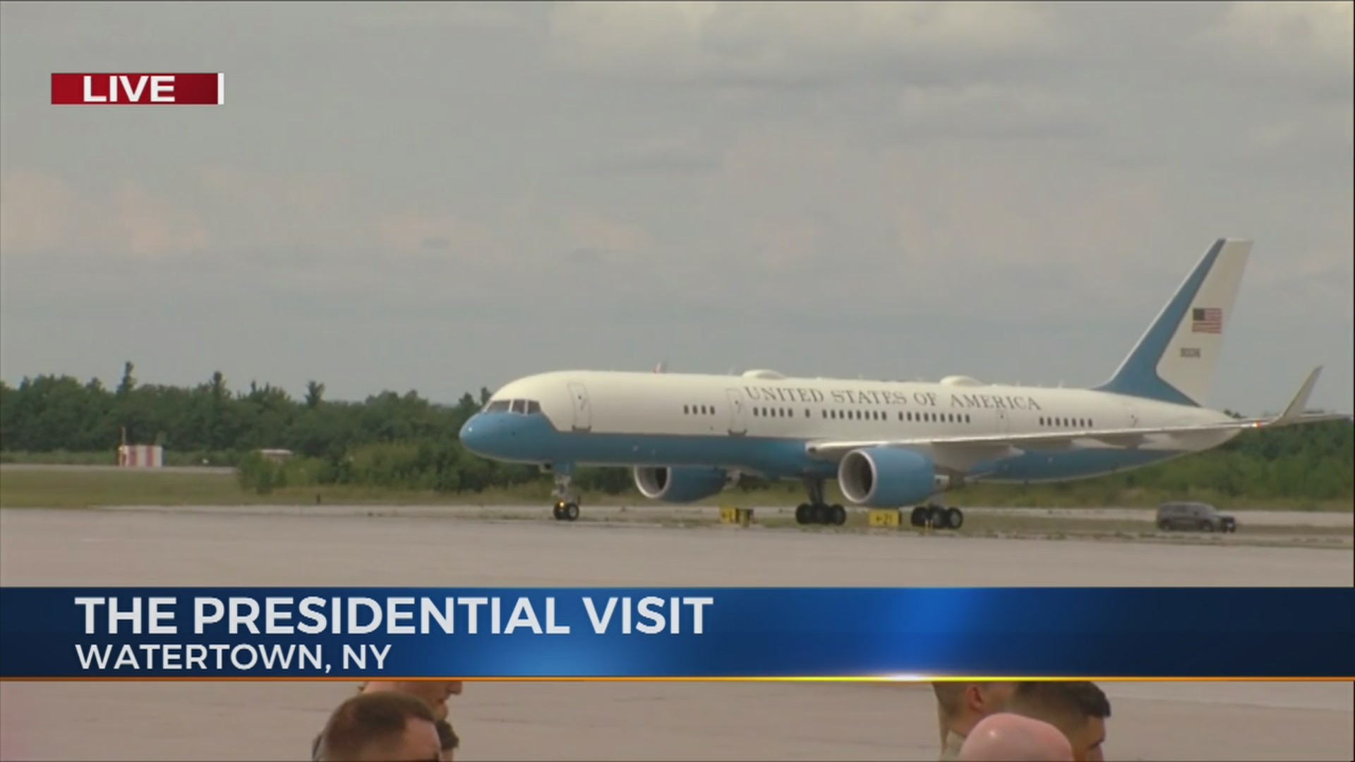 Air Force One Lands at Fort Drum