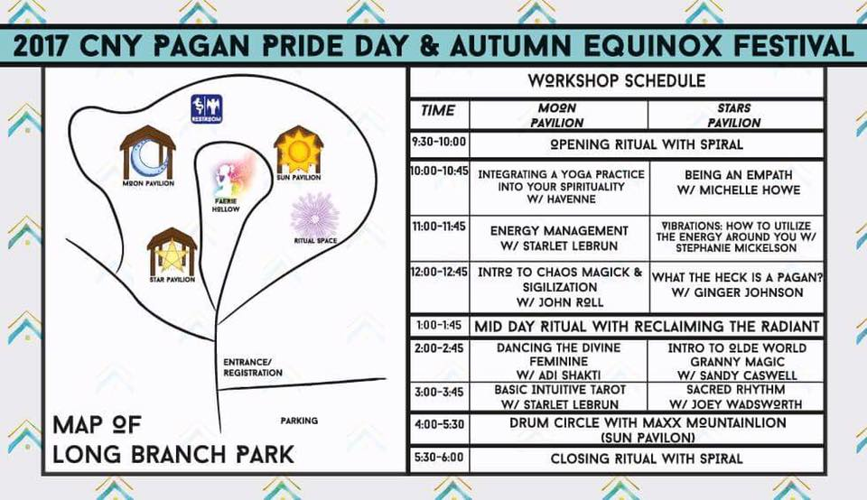 2017 Central New York Pagan Pride Day Schedule of Events