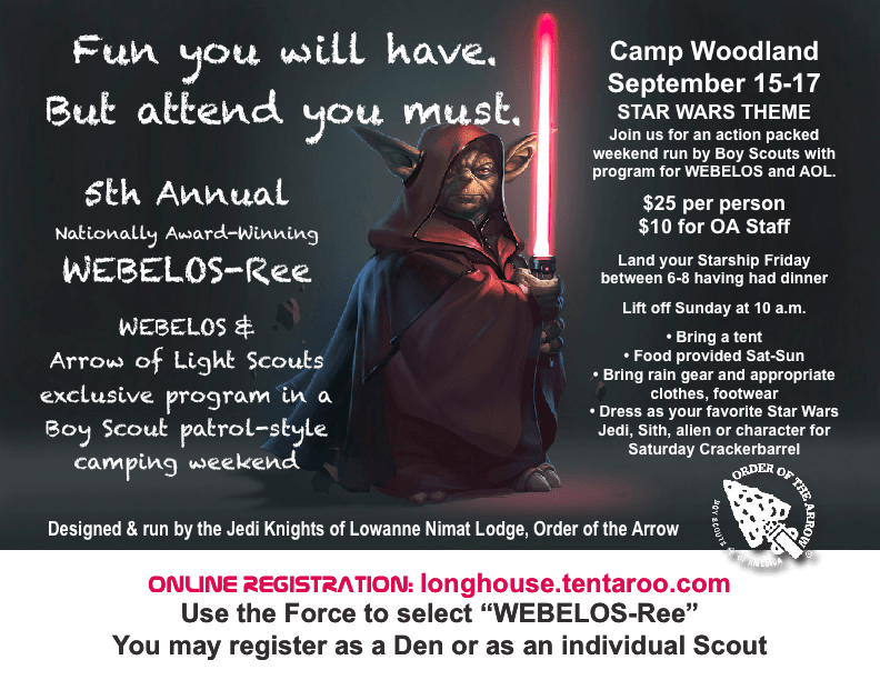 5th Annual WEBELOS-Ree at Camp Woodland