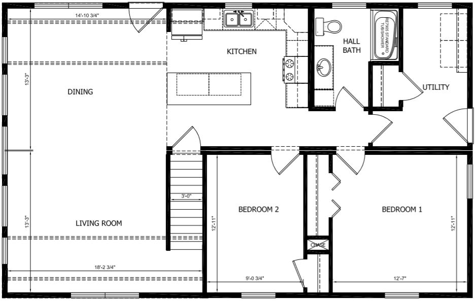The Lincoln Modular Home for Sale by American Homes CNY