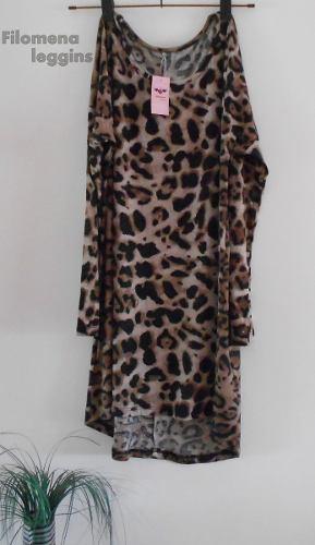 Mitad de precio atesorar como una mercancía rara calidad estable Remerón-vestido Animal Print-largo-filomena Leggins » Mayorista de ropa