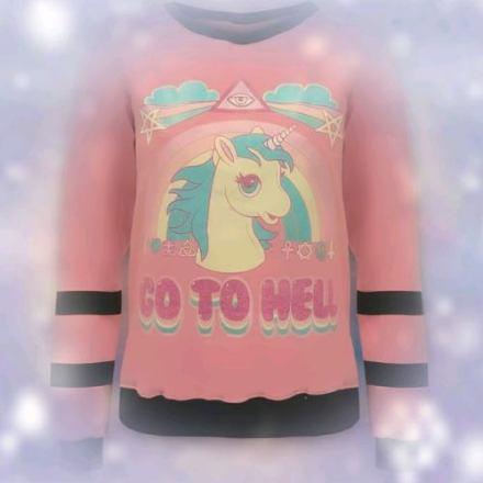 Image buzos-hoodies-fantasy-unicorn-pegaso-go-to-hell-frizados-852301-MLA20292909444_052015-O.jpg