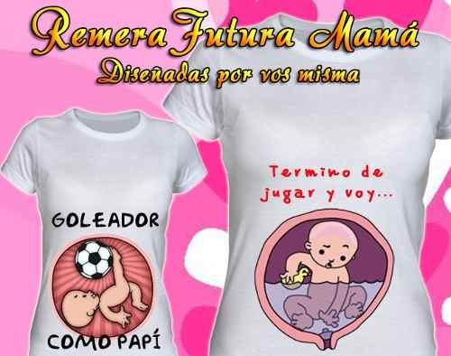 Remeras Embarazadas Futura Mama Baby Shower Mayorista