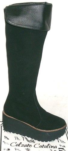 http://articulo.mercadolibre.com.ar/MLA-619956161-botas-bucaneras-calzate-catalina-plataforma-gamuza-_JM
