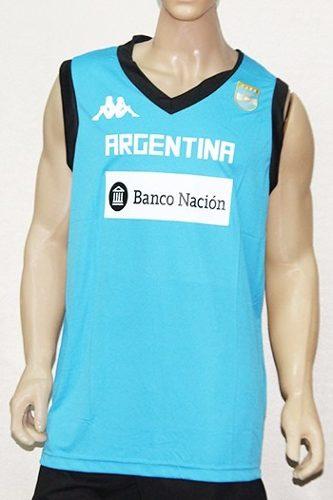 7fb15c7b04fbe Musculosa Entrenamiento Cabb Argentina Kappa Basquet Basket ...