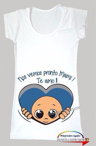 2e6d2ac00 Remera Futura Mama Embarazada Ecografía Bebe Personalizada ...