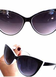 Armazones Importados Anteojos De Sol Gatubelos Pin Up White