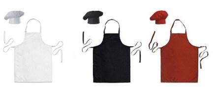 Conjunto Gorro De Chef + Delantal - Antimanchas- La Domenica