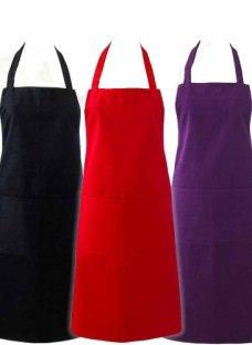 Delantal De Cocina Con Pechera Y Bolsillo - Tela Antimancha