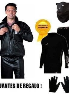 Equipo Termico Moto Piloto Alba+mascara+calza+remera+guante