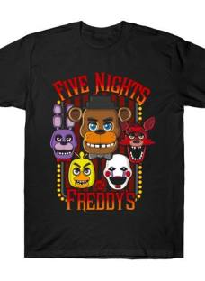 Freddy Five Nights Remeras Manga Corta