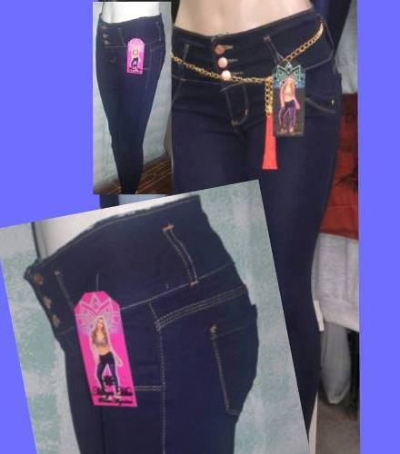 Jeans Elastizados Tiro Alto Y Medio Talles 34 Al 46 De Mujer