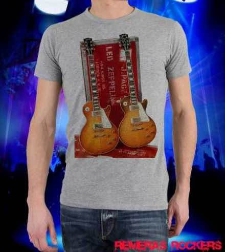 Remera Gibson Les Paul Jimmy Page
