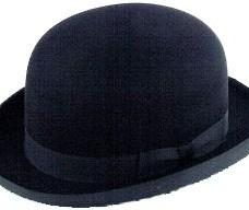Sombrero Artesanal Bombin De Fieltro De Lana