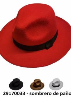 Sombrero De Paño Con Cinta De Tela Unisex..