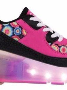 Zapatillas Con Rueda Peace And Love Led Footy Mundo Ukelele