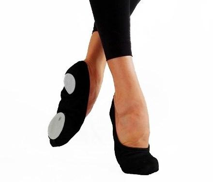 Zapatillas De Danza Media Punta Badanas Gabardina Elastizada