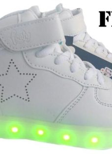 Zapatillas Footy Con Luces Led Carga Usb Mundo Moda Kids