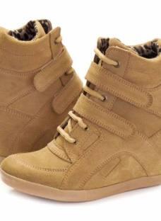 Zapatillas Sneaker Cuero Gamuza Taco Escondido Ciro Art625