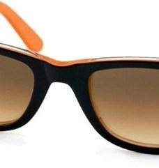 Anteojos Lentes De Sol Ray Ban Wayfarer Rb2140 Verde Naranja