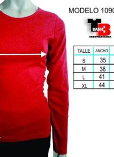 Camisetas Mujer Pack X 6 Algodón Adaptables