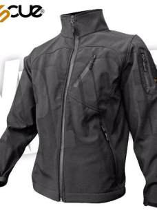 Campera Softshell Negra Rescue Impermeable Urban Jacket