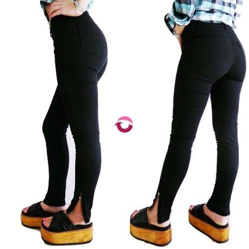 f2195e0a43a2 Jeans Mujer Tiro Alto Elastizados Chupin Negro Mujer » Mayorista de ropa